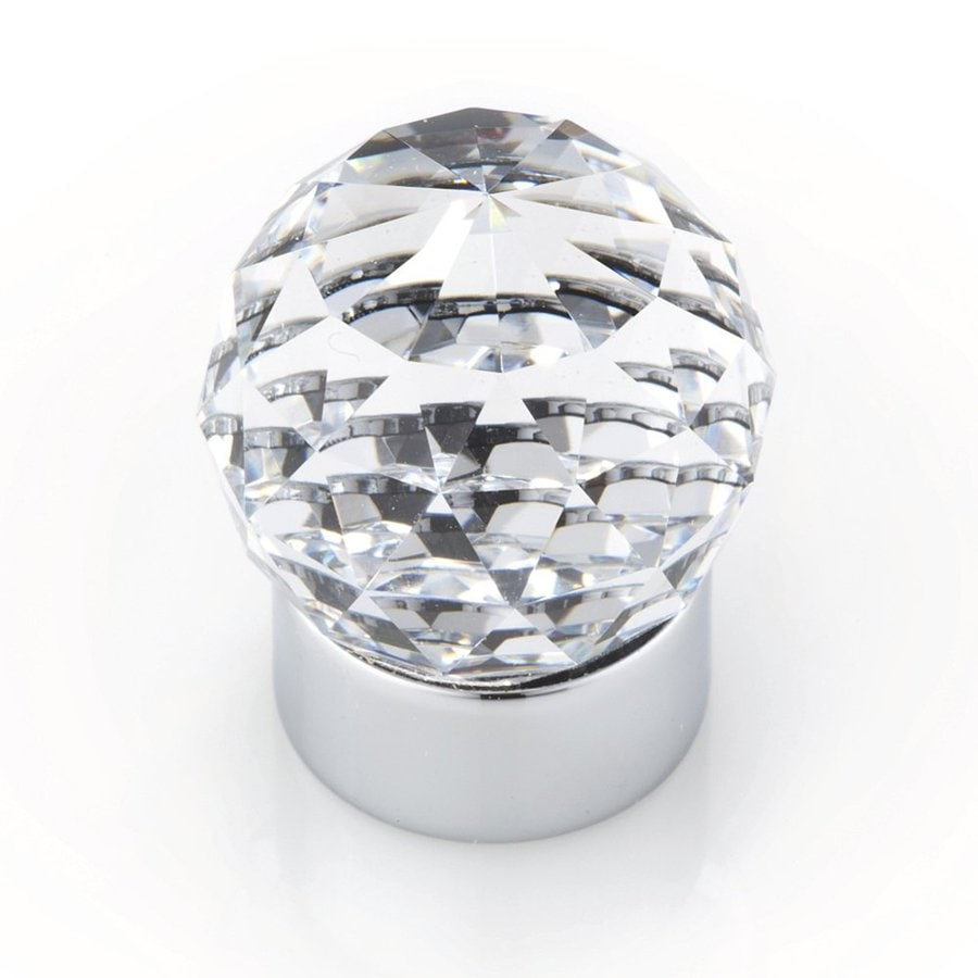 Topex Hardware Crystal Bright Chrome Globe Cabinet Knob