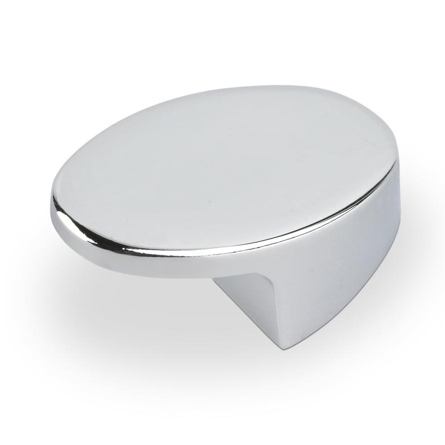 Topex Hardware Contemporary Bright Chrome Oval Cabinet Knob