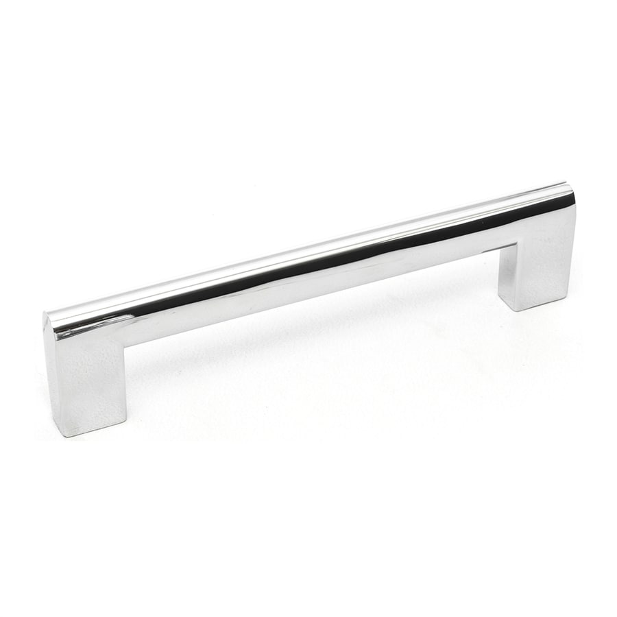 Topex Hardware 128mm Center-to-Center Bright Chrome Contemporary Bar Cabinet Pull