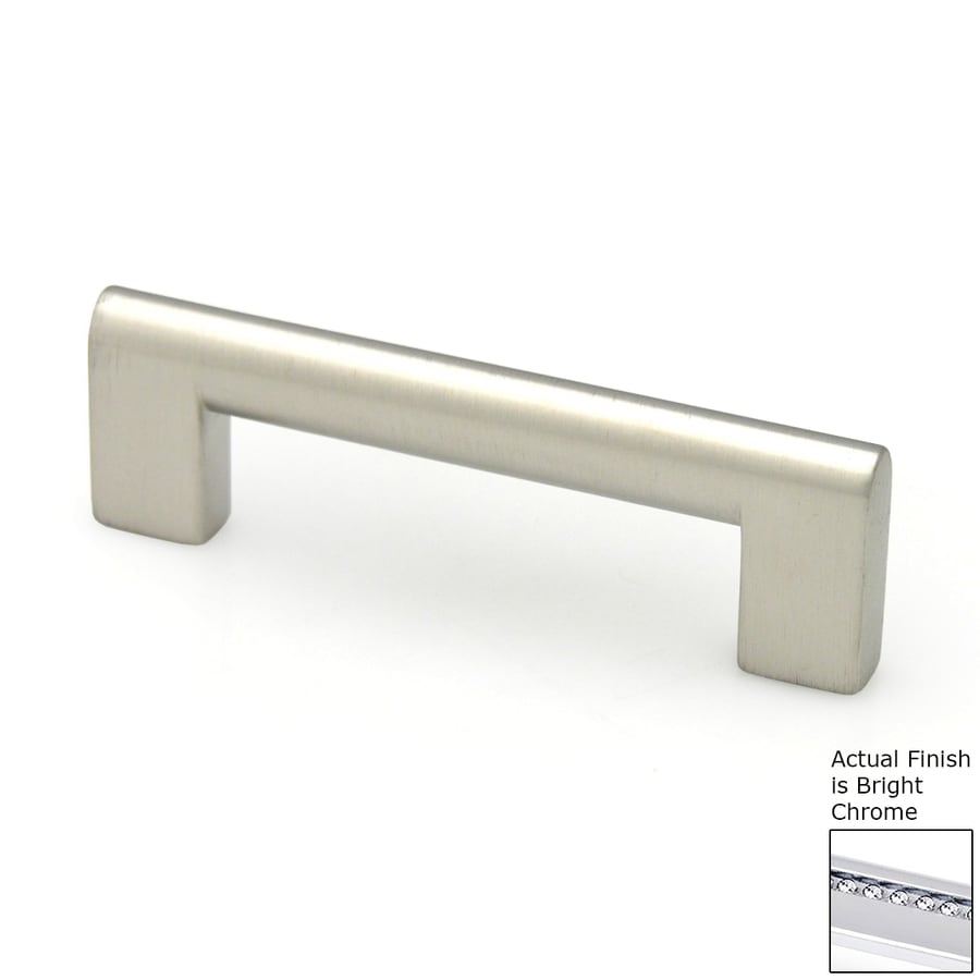 Shop topex hardware 192mm center to center bright chrome contemporary bar cabinet pull at - Contemporary cabinet pulls ...