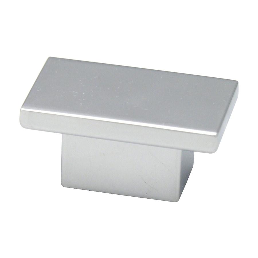 Topex Hardware Contemporary Bright Chrome Rectangular Cabinet Knob