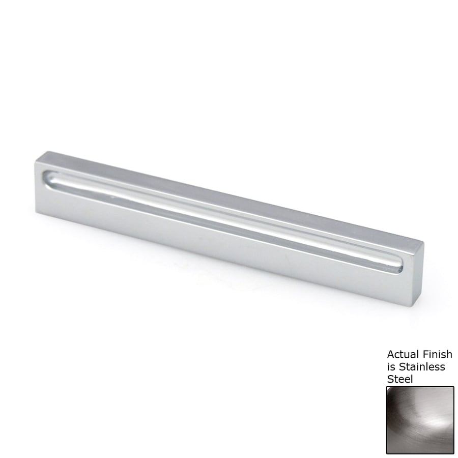 Topex Hardware 2-1/2-in Center-to-Center Stainless-Steel Contemporary Bar Cabinet Pull