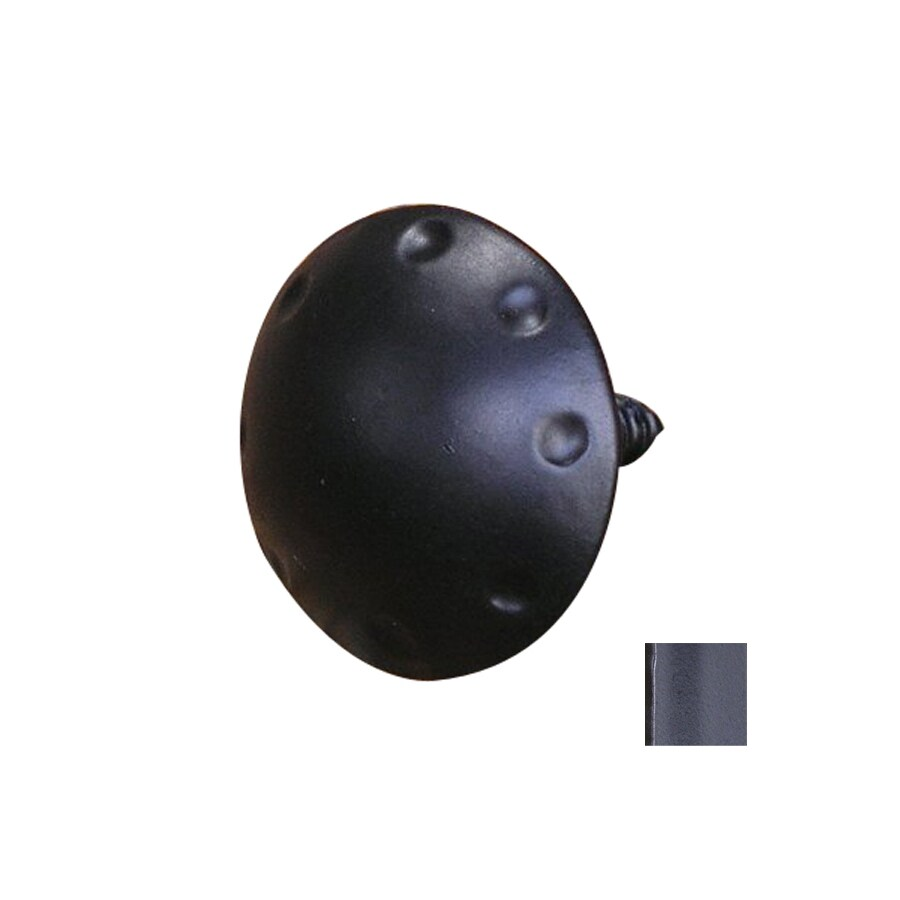 Artesano Iron Works 1-1/2-in Semi-Matte Black Mushroom Cabinet Knob