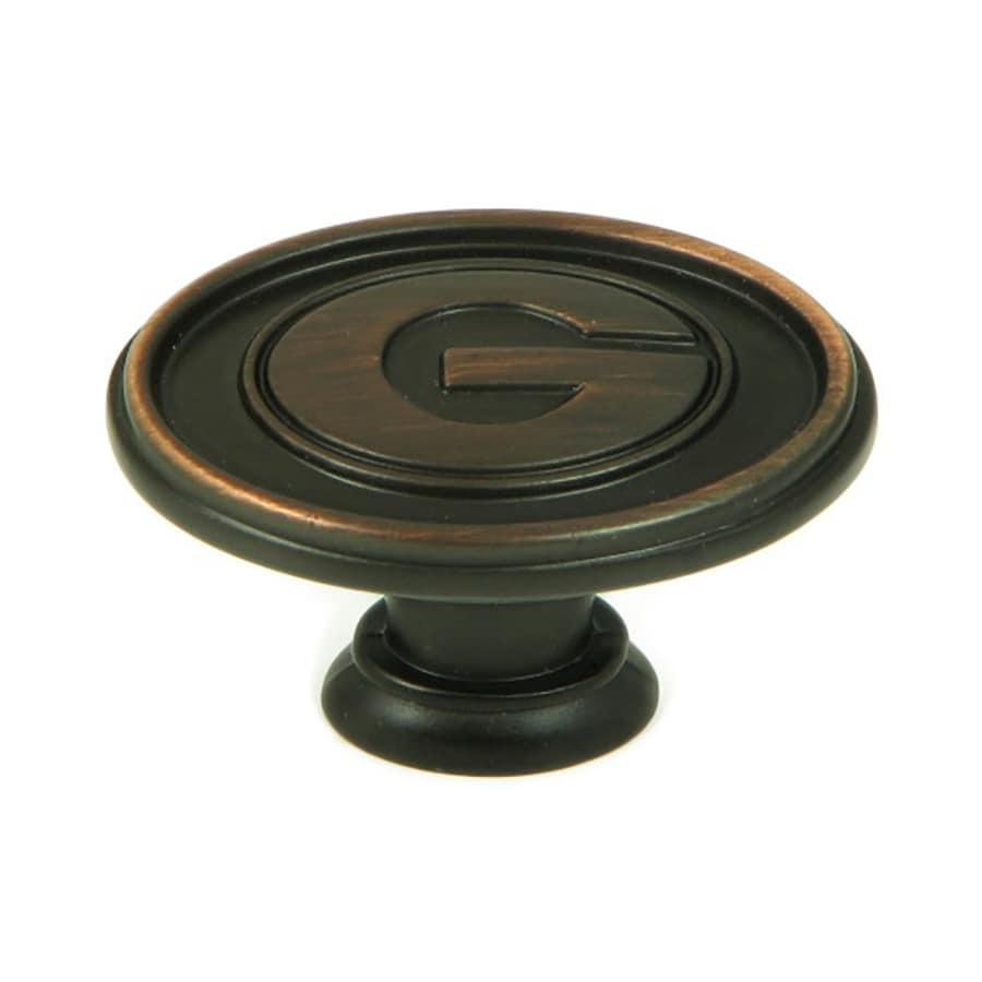 stone mill hardware collegiate hardware georgia bulldogs oilrubbed bronze oval cabinet knob