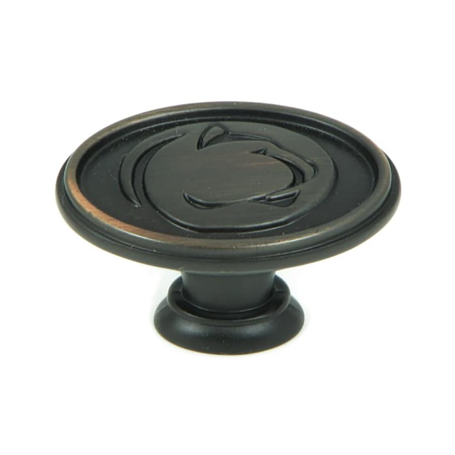 Stone Mill Hardware Collegiate Hardware Penn State Nittany Lions Oil-Rubbed Bronze Oval Cabinet Knob