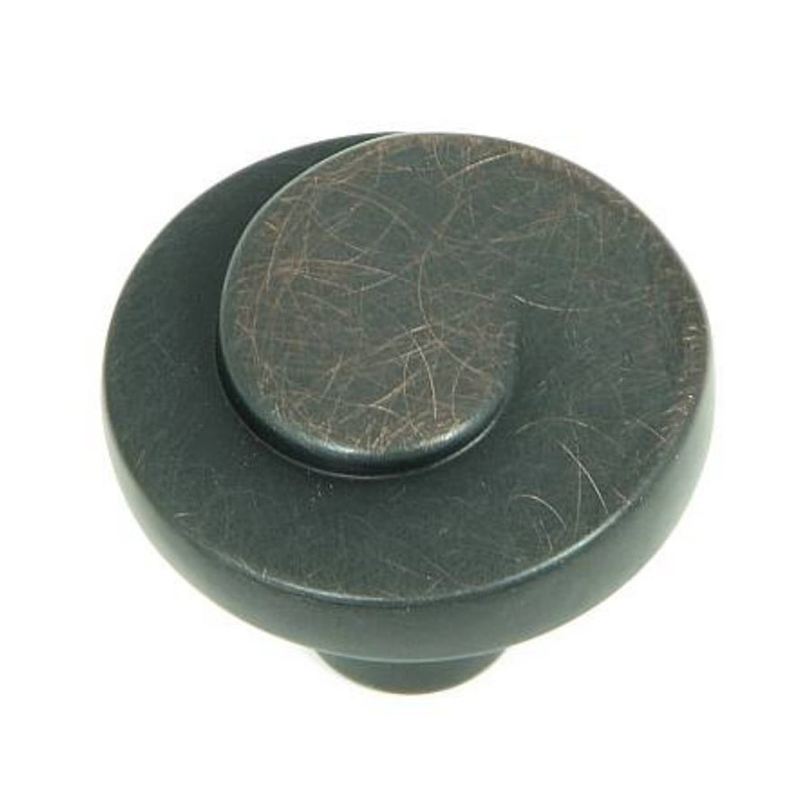 Stone Mill Hardware Newbury Oil-Rubbed Bronze Round Cabinet Knob