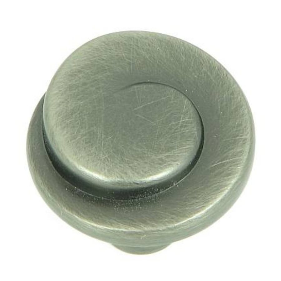 Stone Mill Hardware Newbury Weathered Nickel Round Cabinet Knob