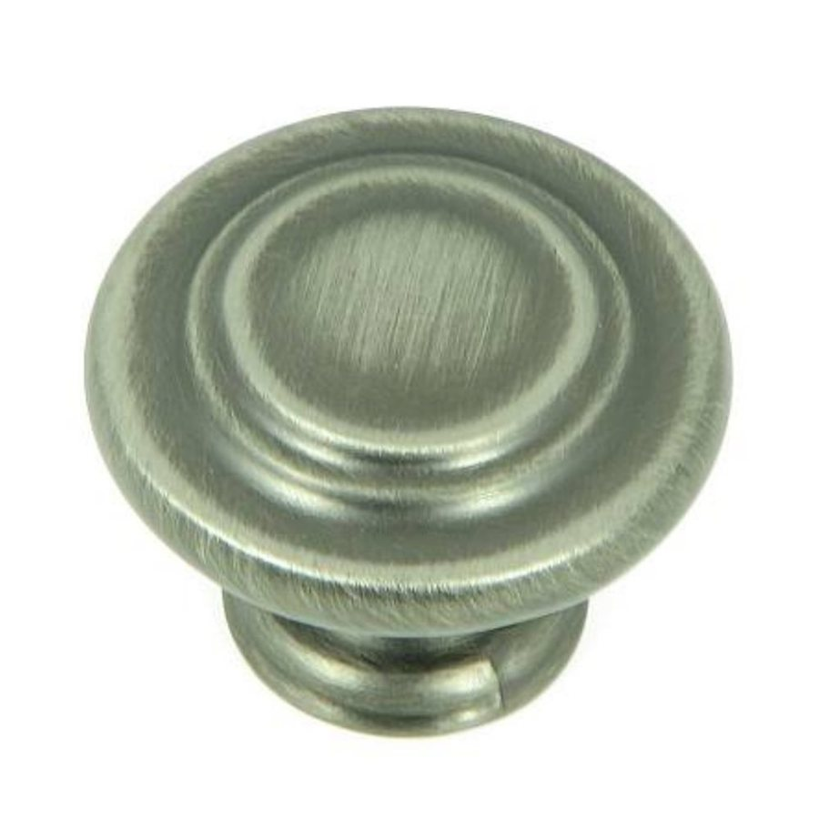 Stone Mill Hardware Weathered Nickel Round Cabinet Knob