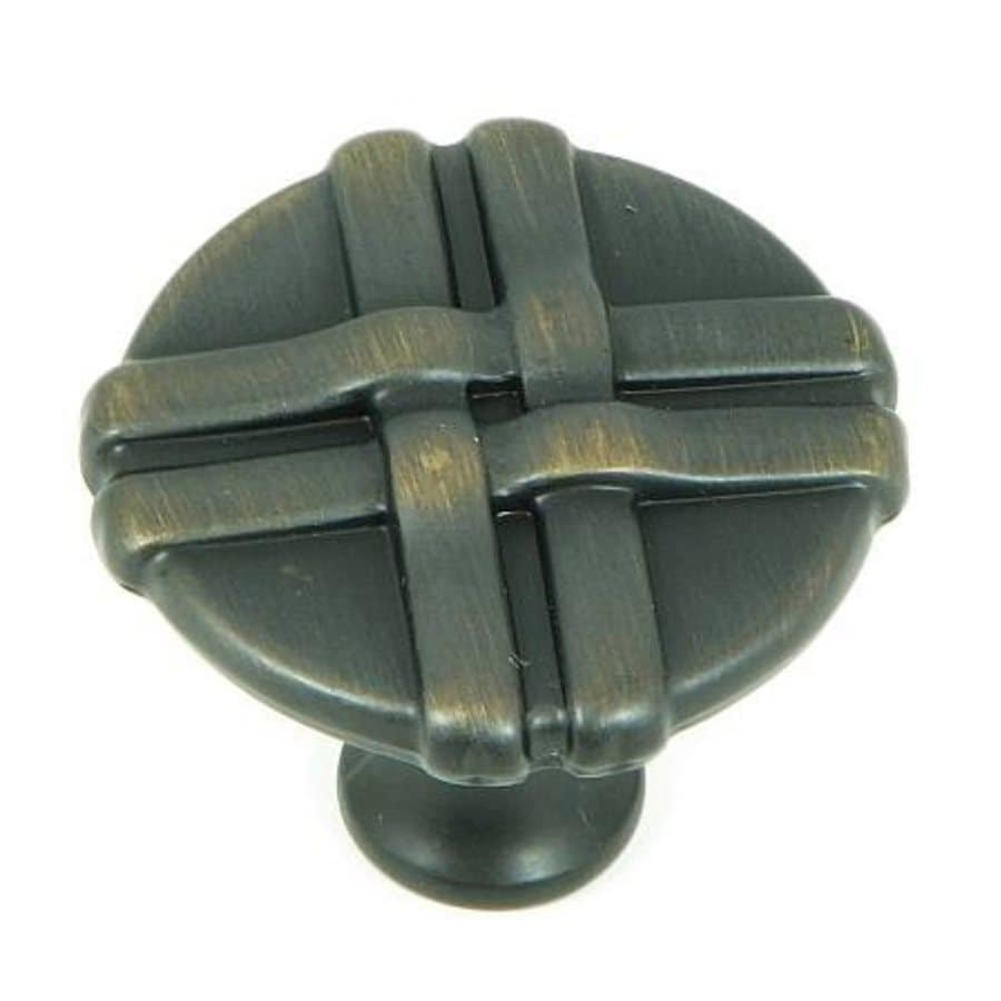 Stone Mill Hardware Weave Oil-Rubbed Bronze Round Cabinet Knob