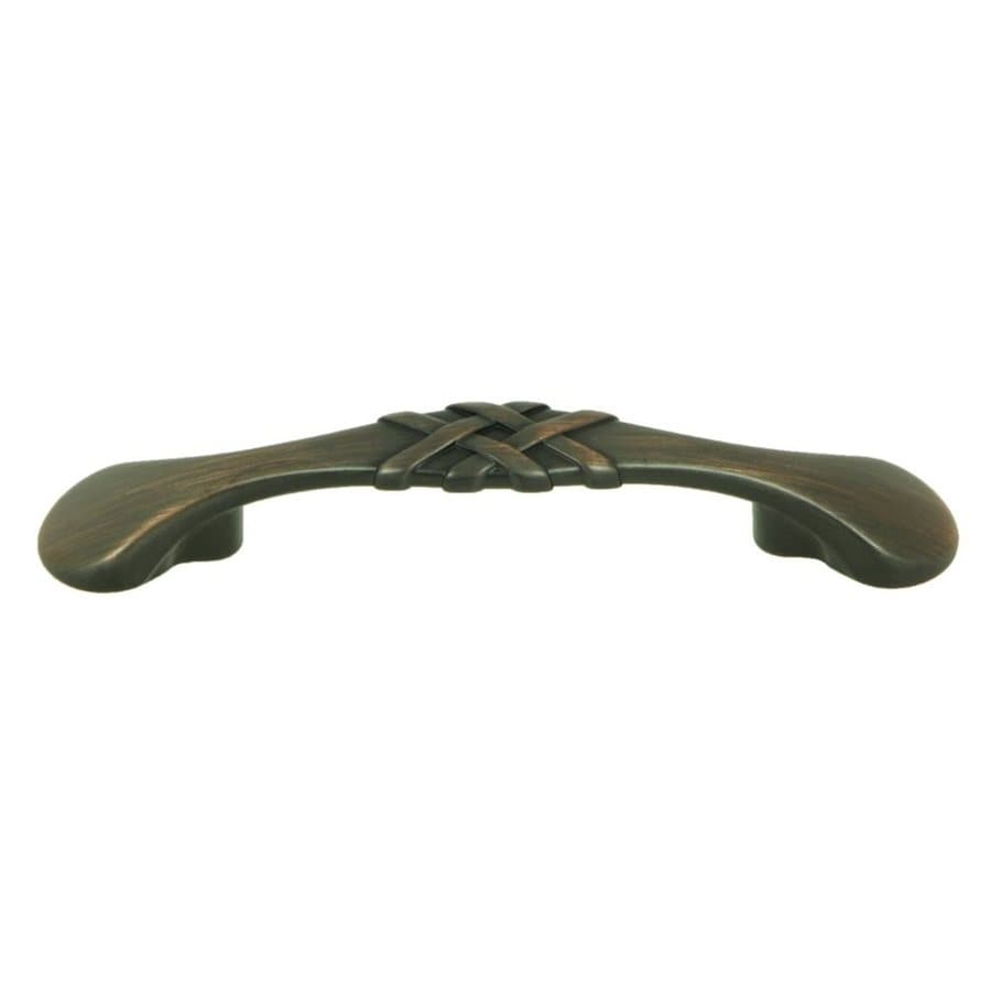 Stone Mill Hardware 3-in Center-to-Center Oil-Rubbed Bronze Sheffield Arched Cabinet Pull