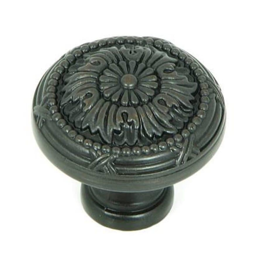 Stone Mill Hardware Floral Oil-Rubbed Bronze Round Cabinet Knob