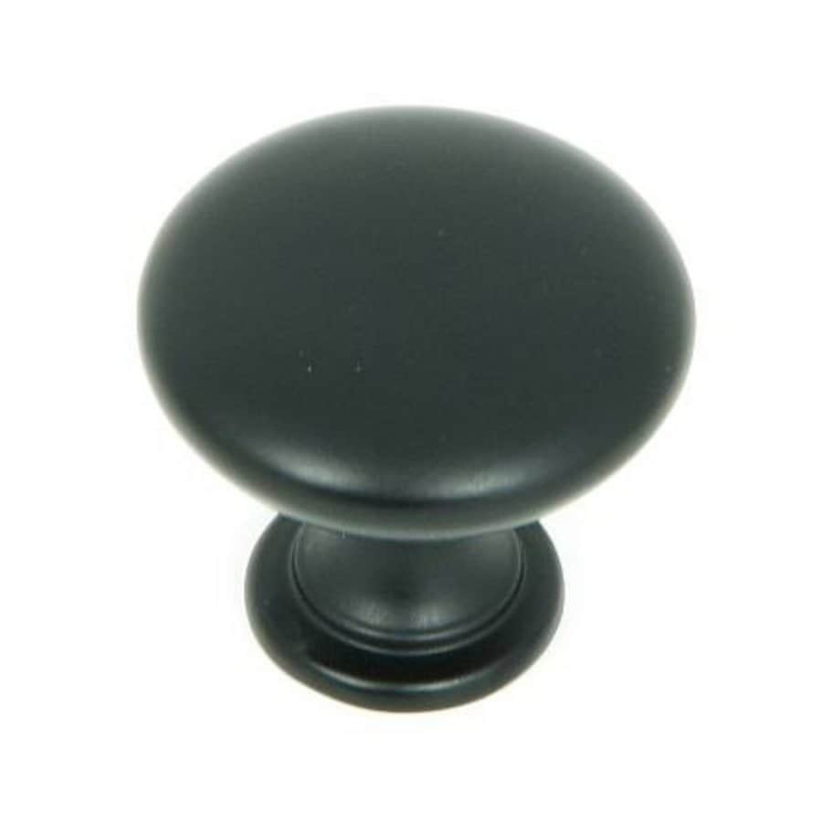 Stone Mill Hardware Matte Black Round Cabinet Knob At Lowes Com