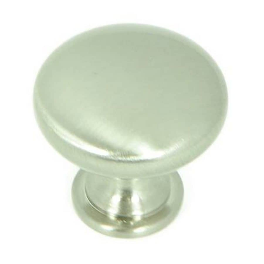 Stone Mill Hardware Satin Nickel Round Cabinet Knob