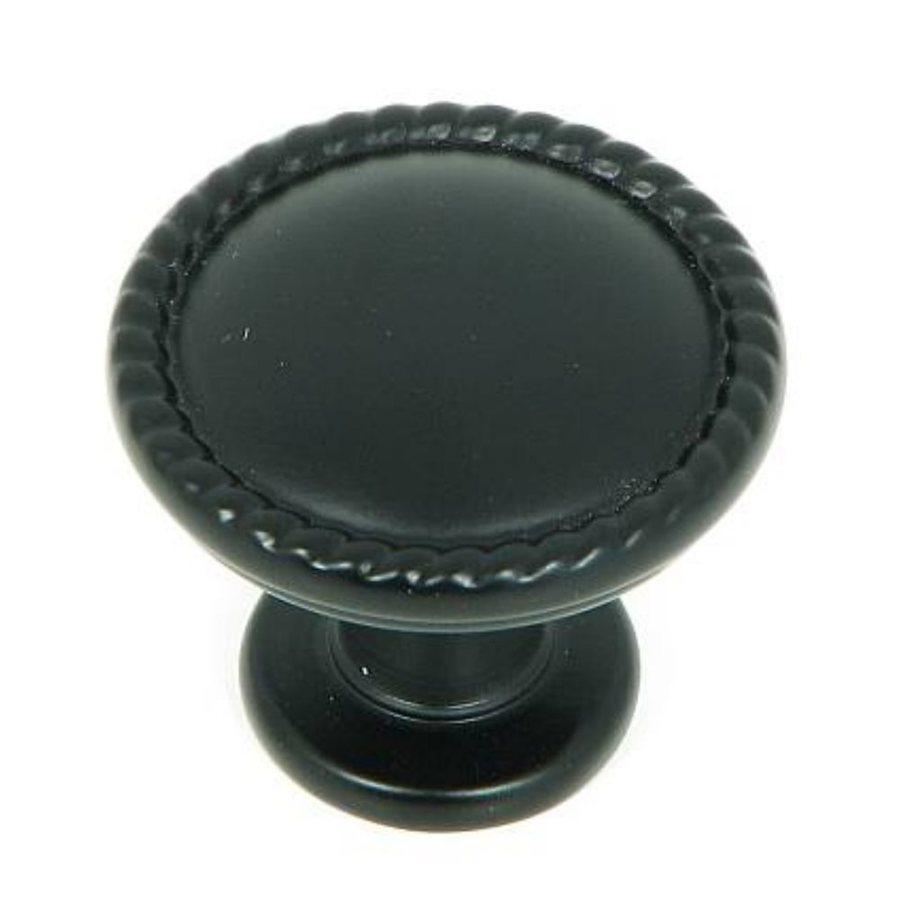 Stone Mill Hardware Palermo Matte Black Round Cabinet Knob