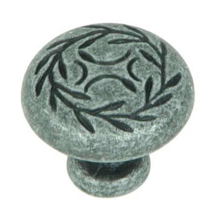 Stone Mill Hardware Leaf Swedish Iron Round Cabinet Knob