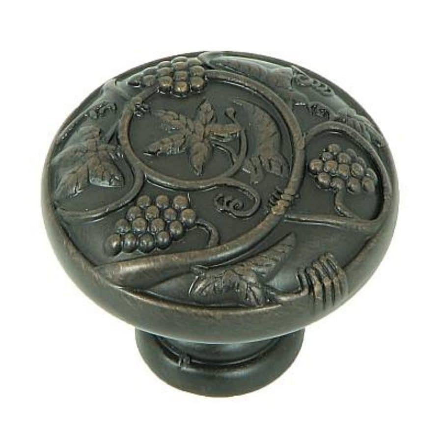 Stone Mill Hardware Vineyard Harvest Oil-Rubbed Bronze Round Cabinet Knob