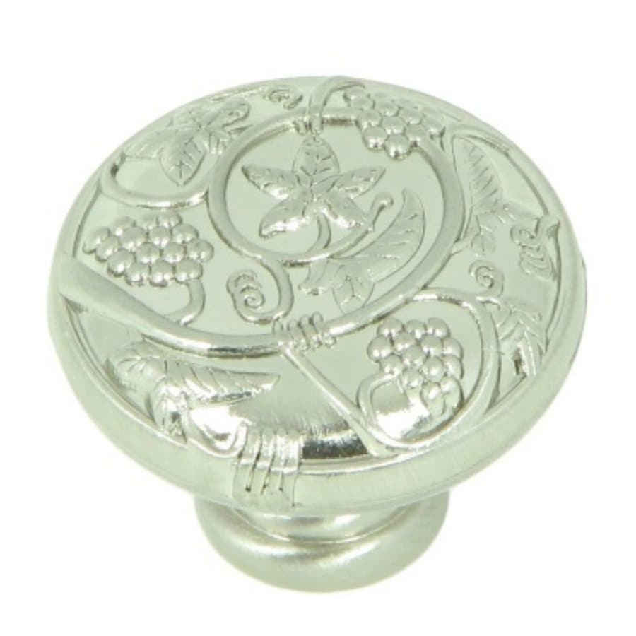 Stone Mill Hardware Meadow Brook Satin Nickel Round Cabinet Knob