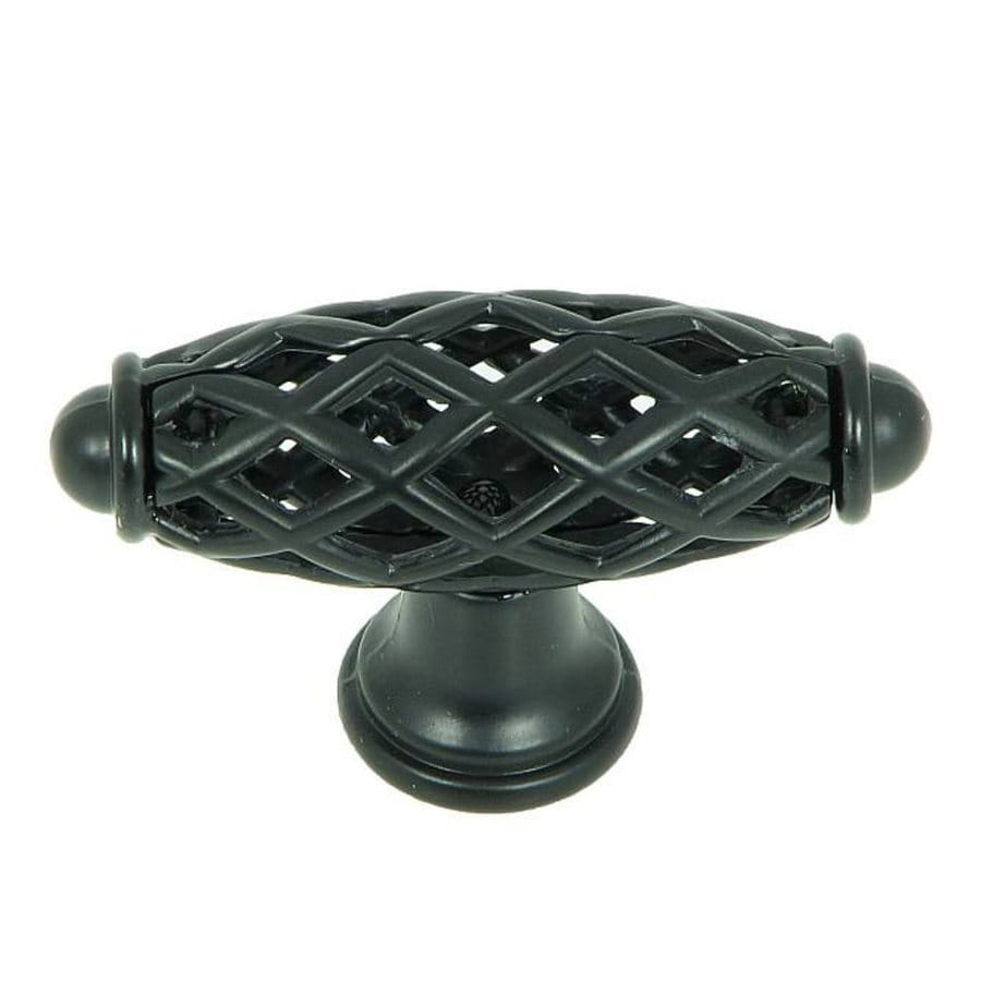 Stone Mill Hardware Hopewell Matte Black Oval Cabinet Knob