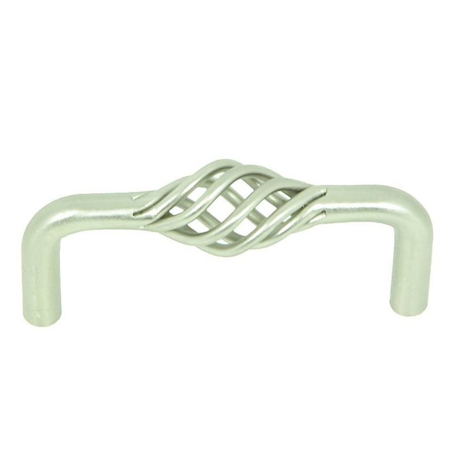 Stone Mill Hardware 3-in Center-to-Center Satin Nickel Sheffield Novelty Cabinet Pull