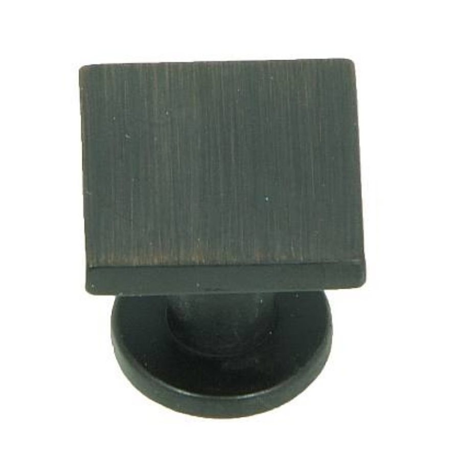 Stone Mill Hardware SoHo Oil-Rubbed Bronze Square Cabinet Knob