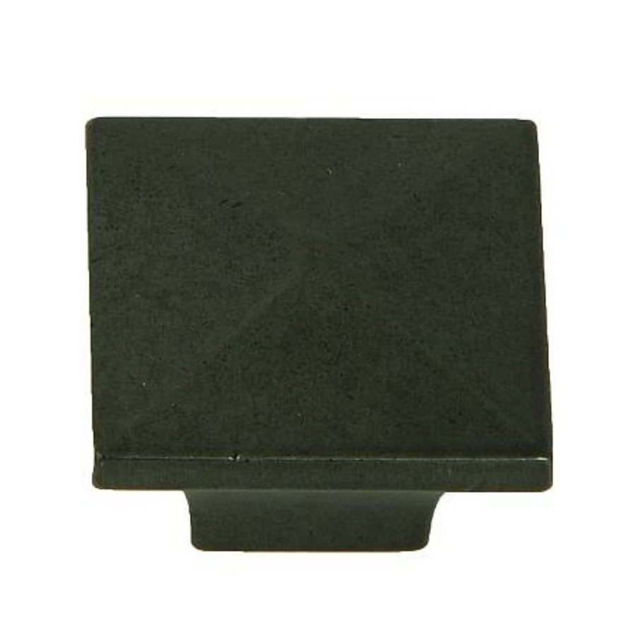 Stone Mill Hardware Cairo Black Antique Square Cabinet Knob