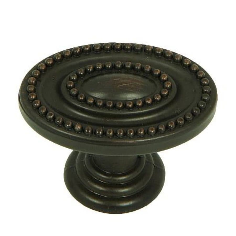 Stone Mill Hardware Palermo Oil-Rubbed Bronze Oval Cabinet Knob