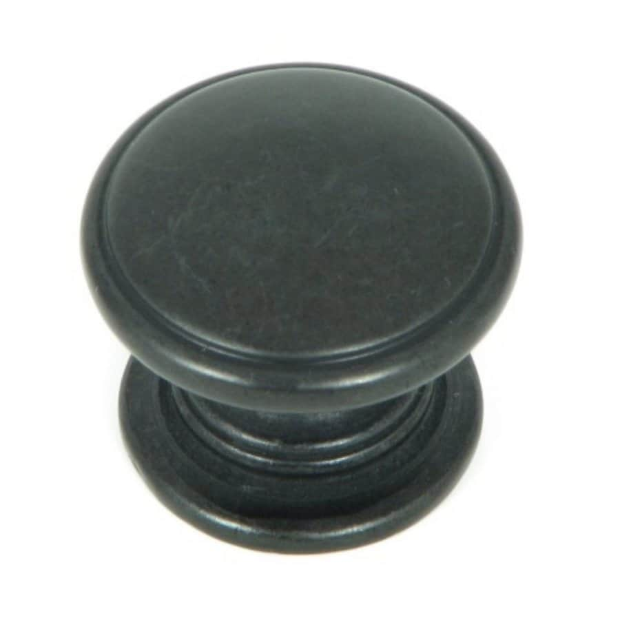 Stone Mill Hardware Princeton Black Antique Round Cabinet Knob