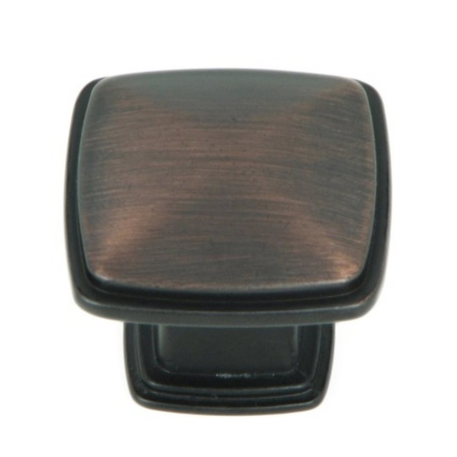 Stone Mill Hardware Providence Oil-Rubbed Bronze Square Cabinet Knob