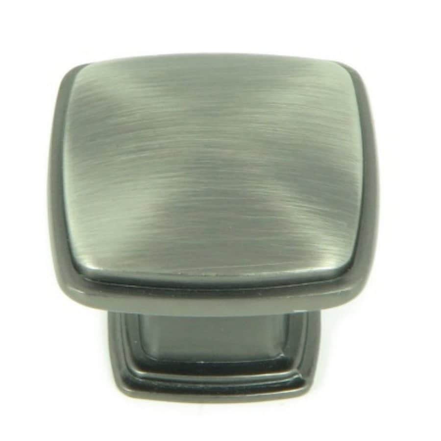 Stone Mill Hardware Providence Weathered Nickel Square Cabinet Knob