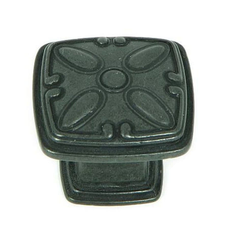 Stone Mill Hardware Edinborough Black Antique Square Cabinet Knob