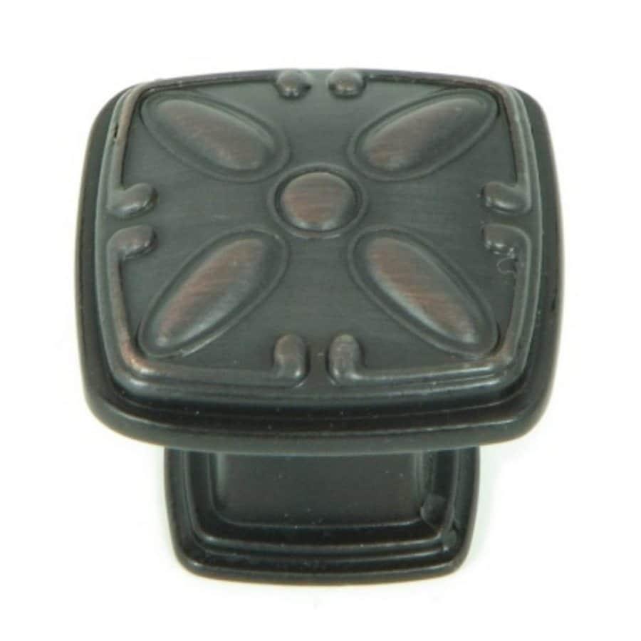Stone Mill Hardware Edinborough Oil-Rubbed Bronze Square Cabinet Knob