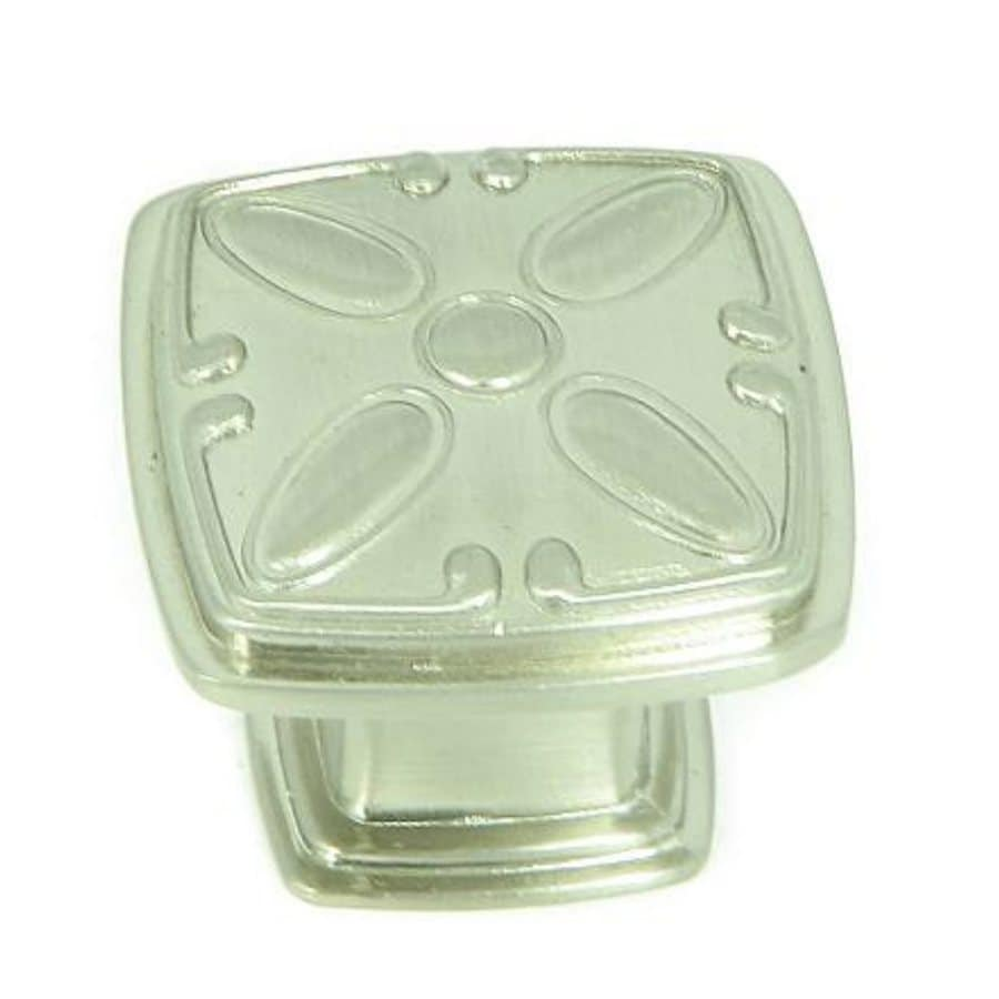 Stone Mill Hardware Milan Satin Nickel Square Cabinet Knob