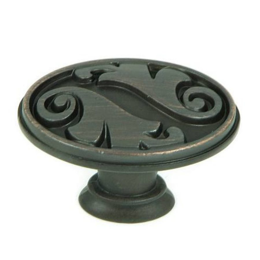 Stone Mill Hardware Meadow Brook Oil-Rubbed Bronze Oval Cabinet Knob