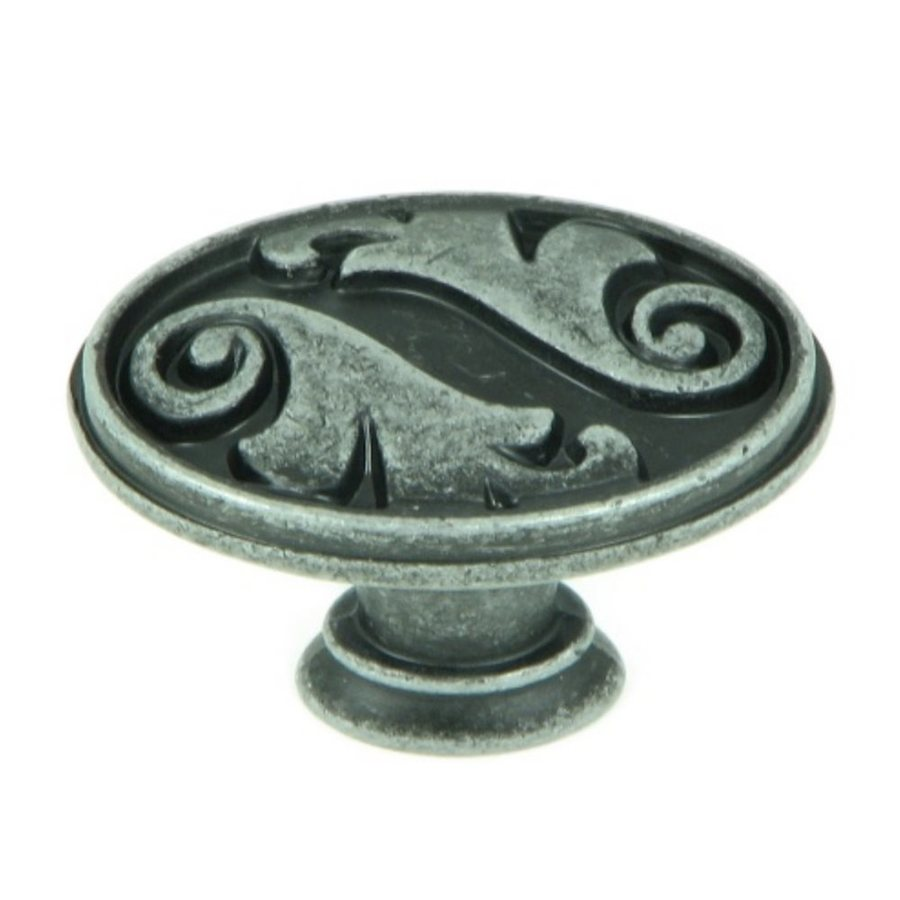 Stone Mill Hardware Oakley Swedish Iron Oval Cabinet Knob