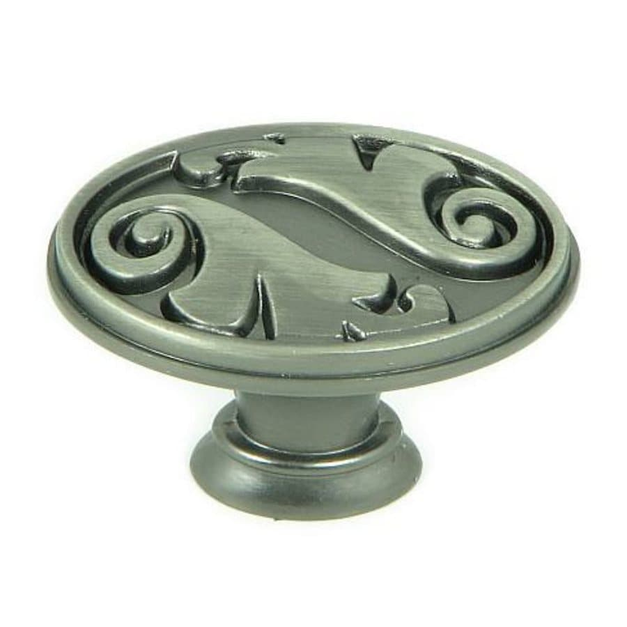 Stone Mill Hardware Meadow Brook Weathered Nickel Oval Cabinet Knob