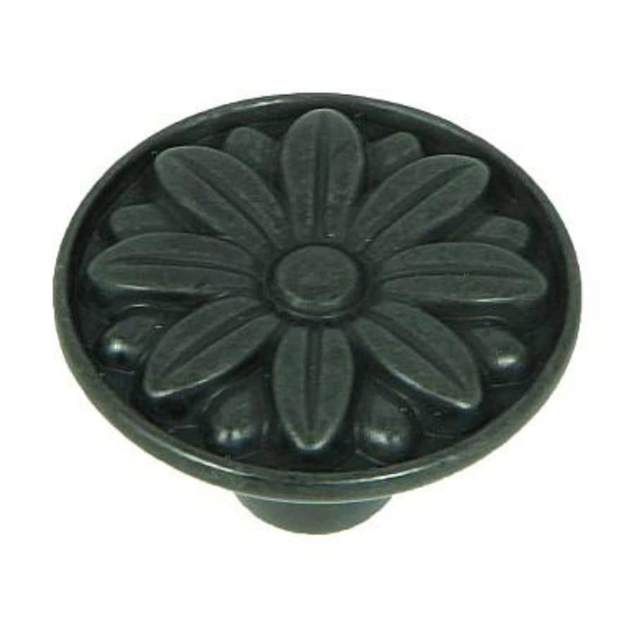 Stone Mill Hardware Mayflower Black Antique Round Cabinet Knob