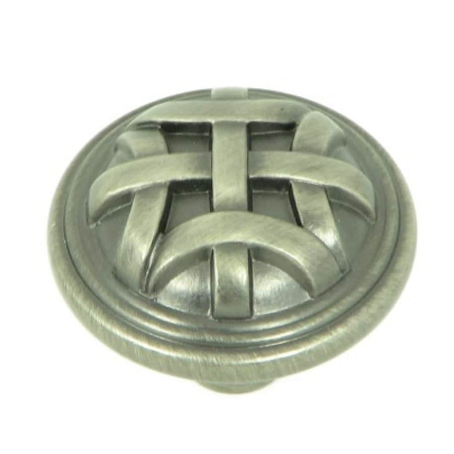 Stone Mill Hardware Cross Flory Weathered Nickel Round Cabinet Knob
