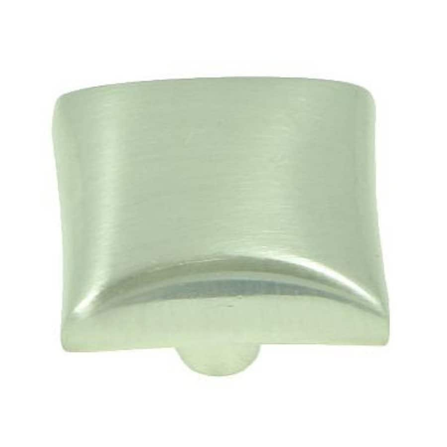 Stone Mill Hardware Bella Satin Nickel Square Cabinet Knob