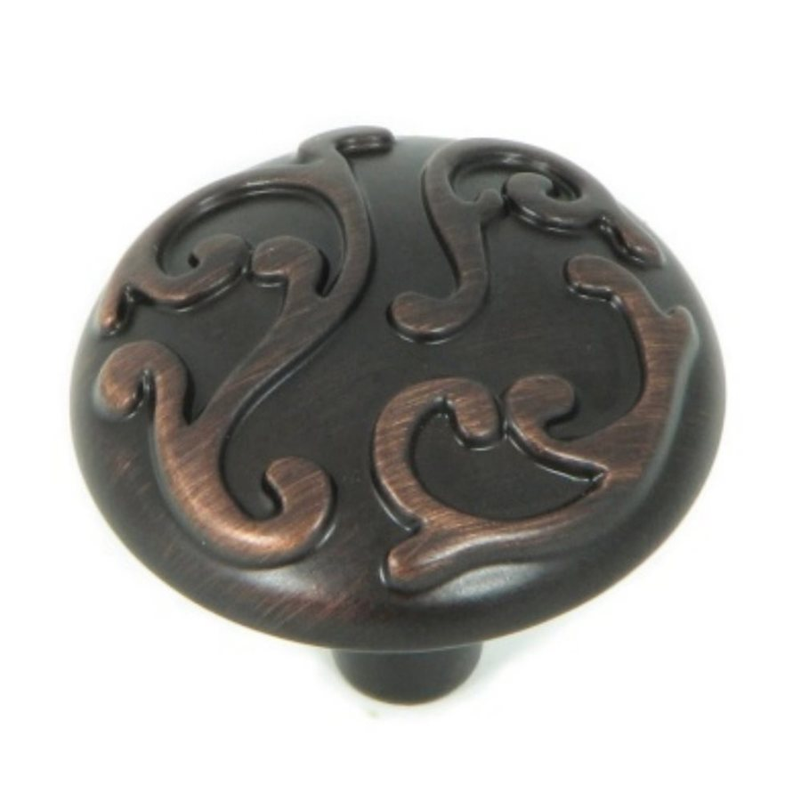 Stone Mill Hardware Ivy Oil-Rubbed Bronze Round Cabinet Knob