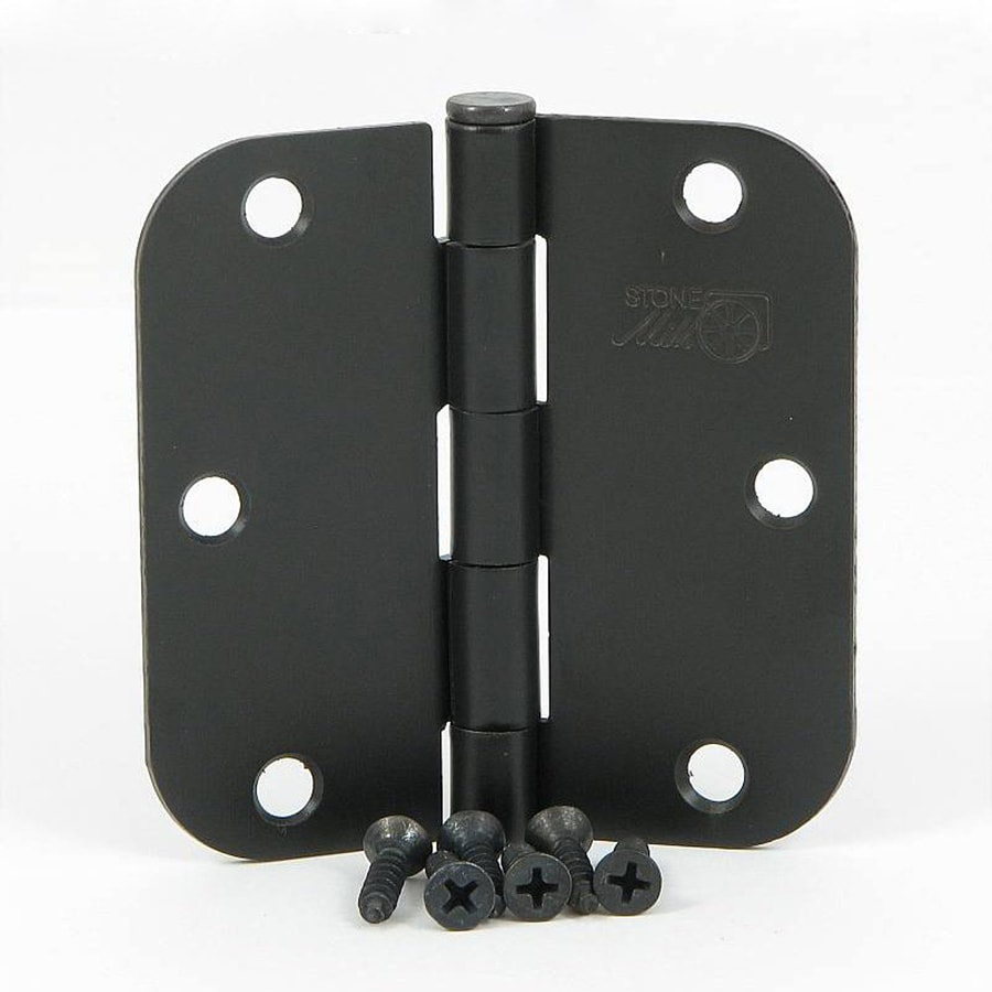 Stone Mill Hardware 2-Pack Oil-Rubbed Bronze Door Hinges