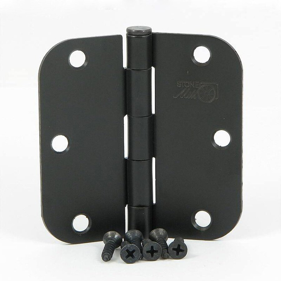 Stone Mill Hardware 2-Pack 3.5-in H Oil-Rubbed Bronze 5/8-in Radius Interior Mortise Door Hinge