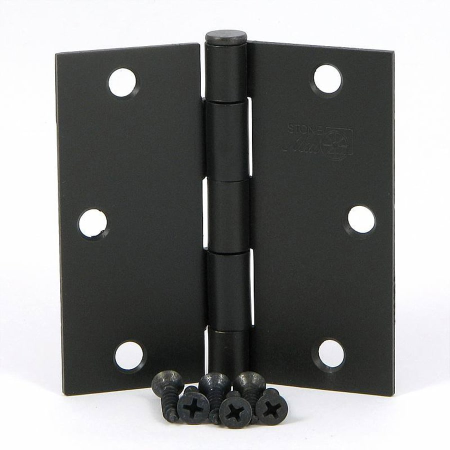Stone Mill Hardware 2-Pack 3.5-in H Oil-Rubbed Bronze Radius Interior Mortise Door Hinge