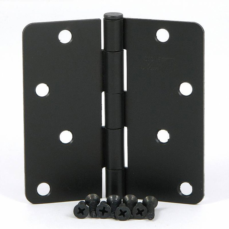 Stone Mill Hardware 2-Pack 4-in H Oil-Rubbed Bronze 1/4-in Radius Interior Mortise Door Hinge