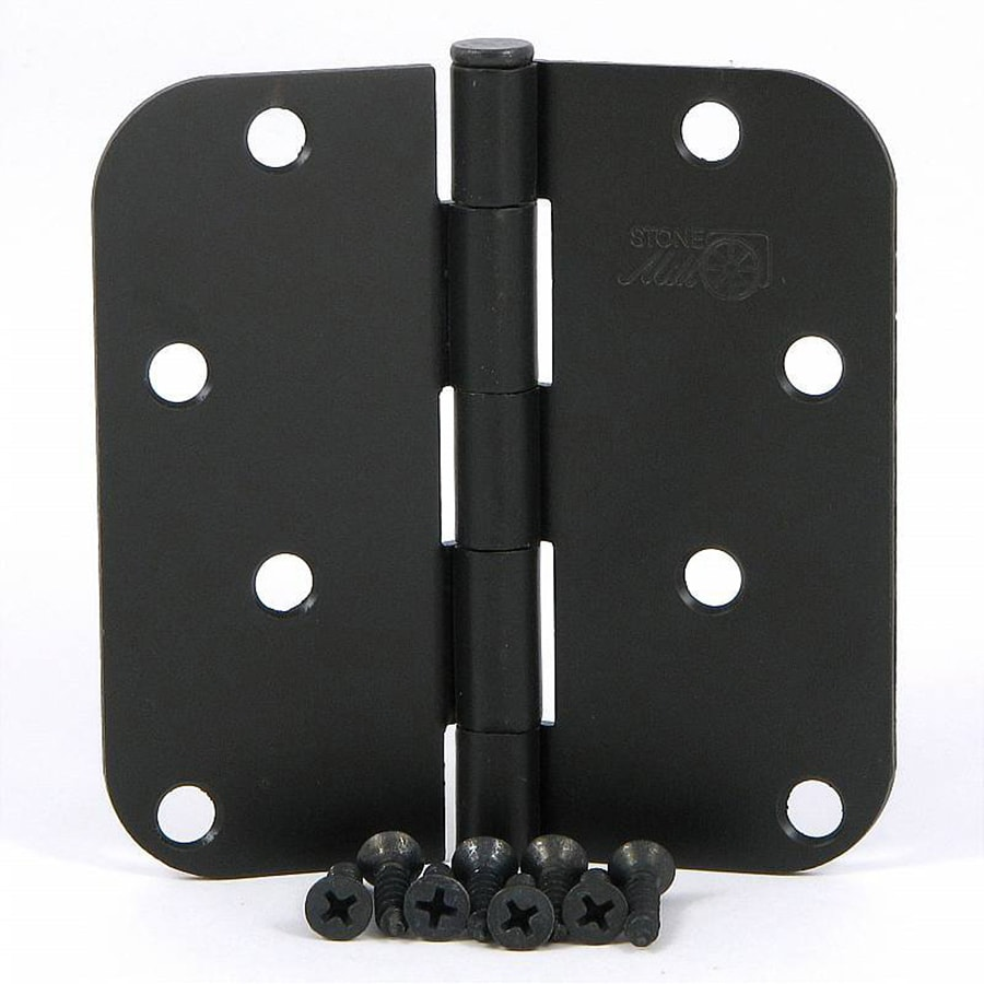 Stone Mill Hardware 2-Pack 4-in H Oil-Rubbed Bronze 5/8-in Radius Interior Mortise Door Hinge