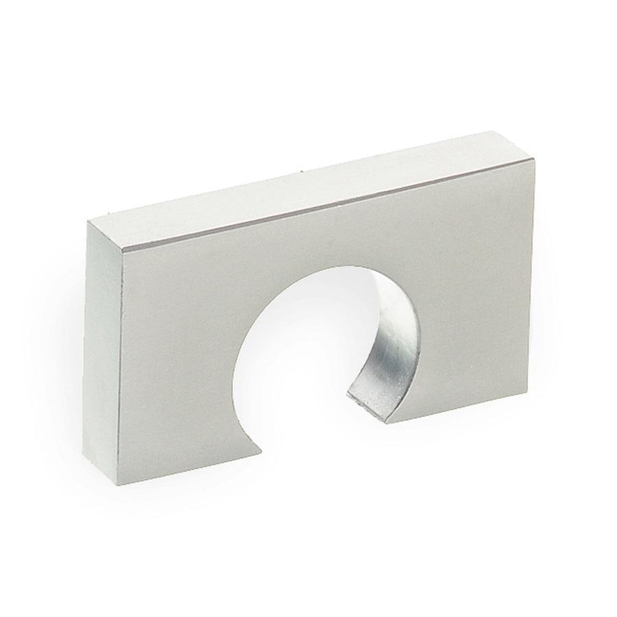 Schwinn 1-1/4-in Center-To-Center Satin Nickel Rectangular Cabinet Pull