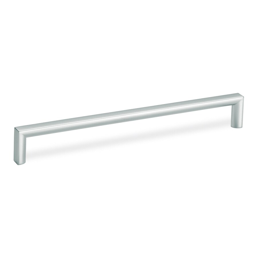 Schwinn Hardware 7-9/16-in Center-to-Center Matte Chrome Bar Cabinet Pull