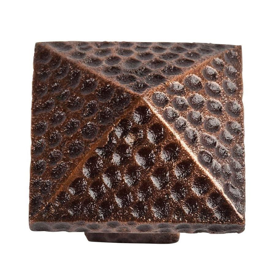 The Copper Factory Artisan Antique Copper  Square Pyramid Cabinet Knob