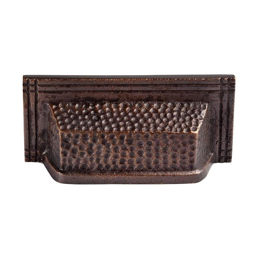 The Copper Factory 3-in Center-To-Center Antique Copper Artisan Rectangular Cabinet Pull