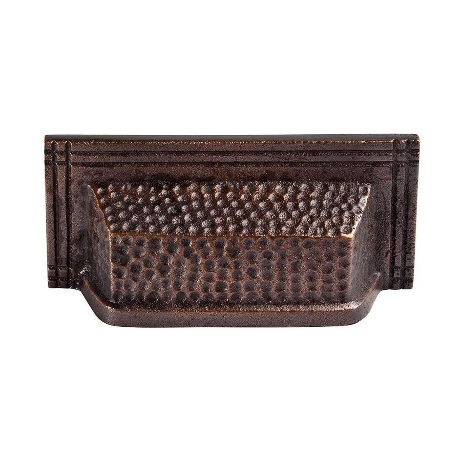 The Copper Factory 3-1/2-in Center-To-Center Antique Copper Artisan Rectangular Cabinet Pull