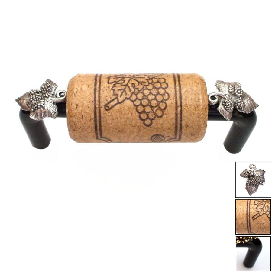 Vine Designs 3-in Center-to-Center Black Vineyard Novelty Cabinet Pull